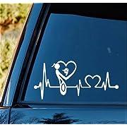 Bluegrass Decals K1140 Mother Mom Loves Son Baby Boy Baseball Cap Heartbeat Lifeline Monitor Decal Sticker