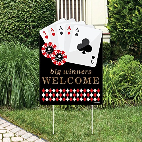 Las Vegas - Party Decorations - Casino Party Welcome Yard (Casino Ornaments)