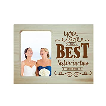 Buy YaYa CafeTM Birthday Gifts For Bhabhi Photo Frame Table Best Sister In Law Engraved Wooden Online At Low Prices India