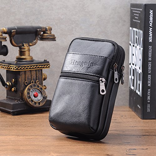 65f5dad1d19d Hengwin Belt Clip iPhone XR Pouch Holster Leather Men Bag Belt ...