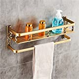 LAONA European style antique copper aluminum bathroom fittings, toilet paper frame, towel ring,Rack 1