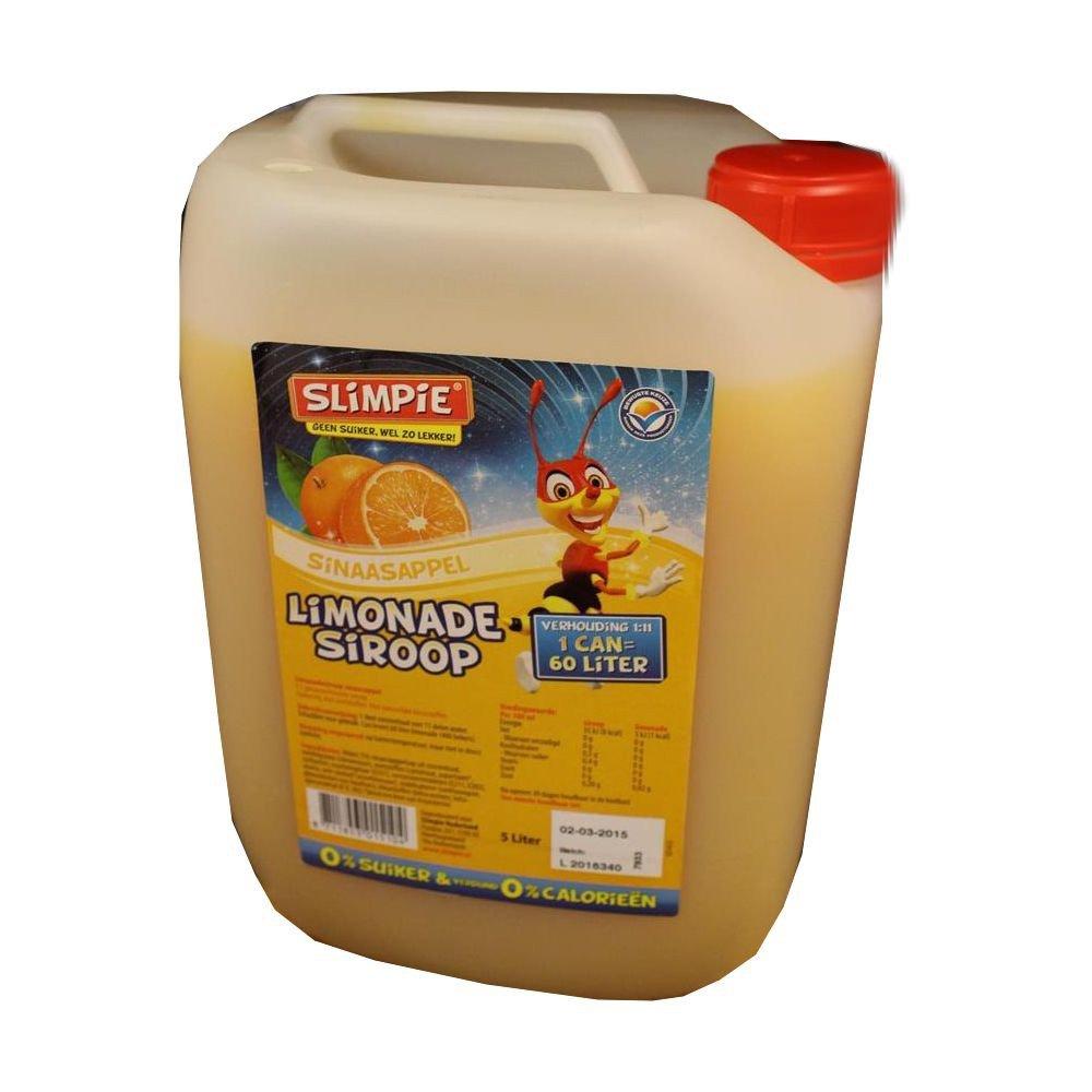 Slimpie Limonade Siroop Sinaasappel 5l Kanister (Getränke-Sirup ...