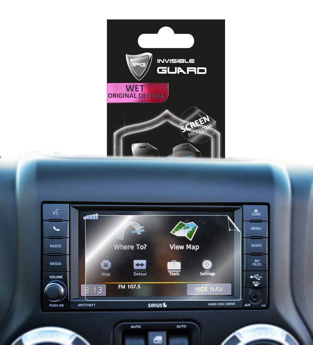 IPG for Jeep Wrangler JK 6.5 Navigation Touch Screen Sensitive Protector Invisible Ultra HD Clear Film Anti Scratch Skin Guard Free JEEP Wrangler JK 6.5 Smooth//Self-Healing//Bubble