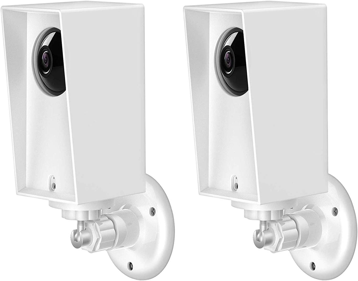 Wyze Cam Pan Wall Mount, Weather Proof Anti-Sun Glare and UV Protection Outdoor/Indoor Adjustable Bracket with Protective Skin Case for Wyze Cam Pan 1080p Security Camera (White(2pack))
