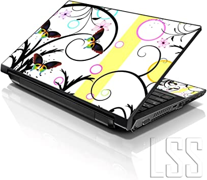 13 Inch Laptop Sleeve Neon Smiley Face Floral Peace Symbol