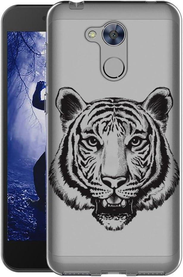 Reshias Huawei Honor 6A Funda Cabeza de Tigre Soft Ligera Gel TPU ...