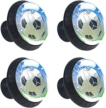 4 Cabinet Knobs for Dresser Drawers Cabinet Handles Pulls for Home Office Cupboard Soccer