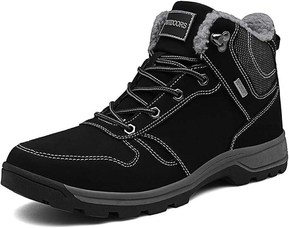 Mens Winter Boots Waterproof Warm Snow