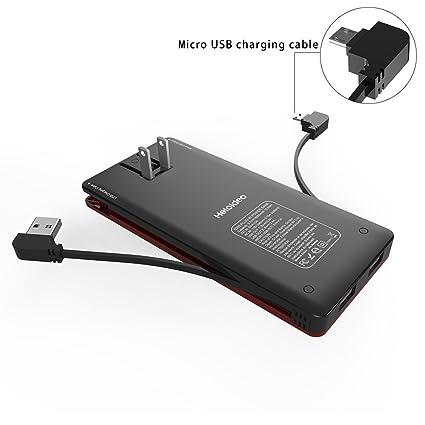 Amazon.com: Batería externa y delgada Heloideo de ...