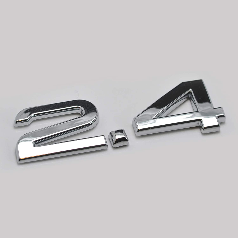 generic Chrome Argent/é 2.4 Embl/ème De Badge Coffre Arri/ère De Chiffres Compatible pour Les Mod/èles Q1 Q2 Q3 Q5 Q7 Q8 TT RS TDI