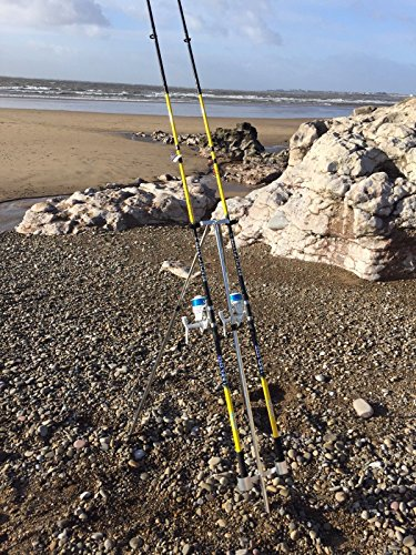 QUALITY SEA FISHING SET - 2 X 12FT BEACHCASTER RODS + 2 X SK7 SEA REELS +...
