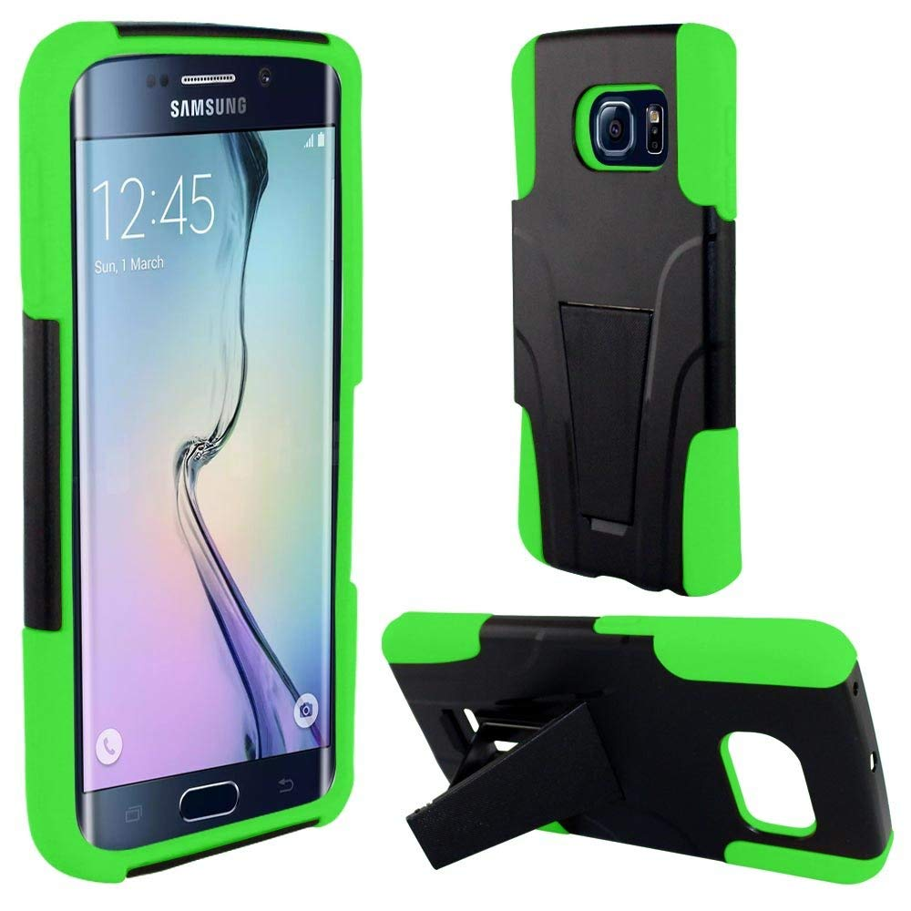LG K4 / Optimus Zone 3 / LG Spree case, Luckiefind Hybridy Dual Layer Case with Kickstand Cover, Stylus Pen, Screen Protector Accessories (Stand Green)