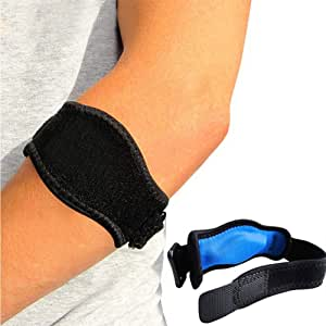Hzjundasi 2 Pack Elbow Arm Support for Men and Women, Golf & Tennis Elbow Brace Arm Strap for Sports Pain Relief