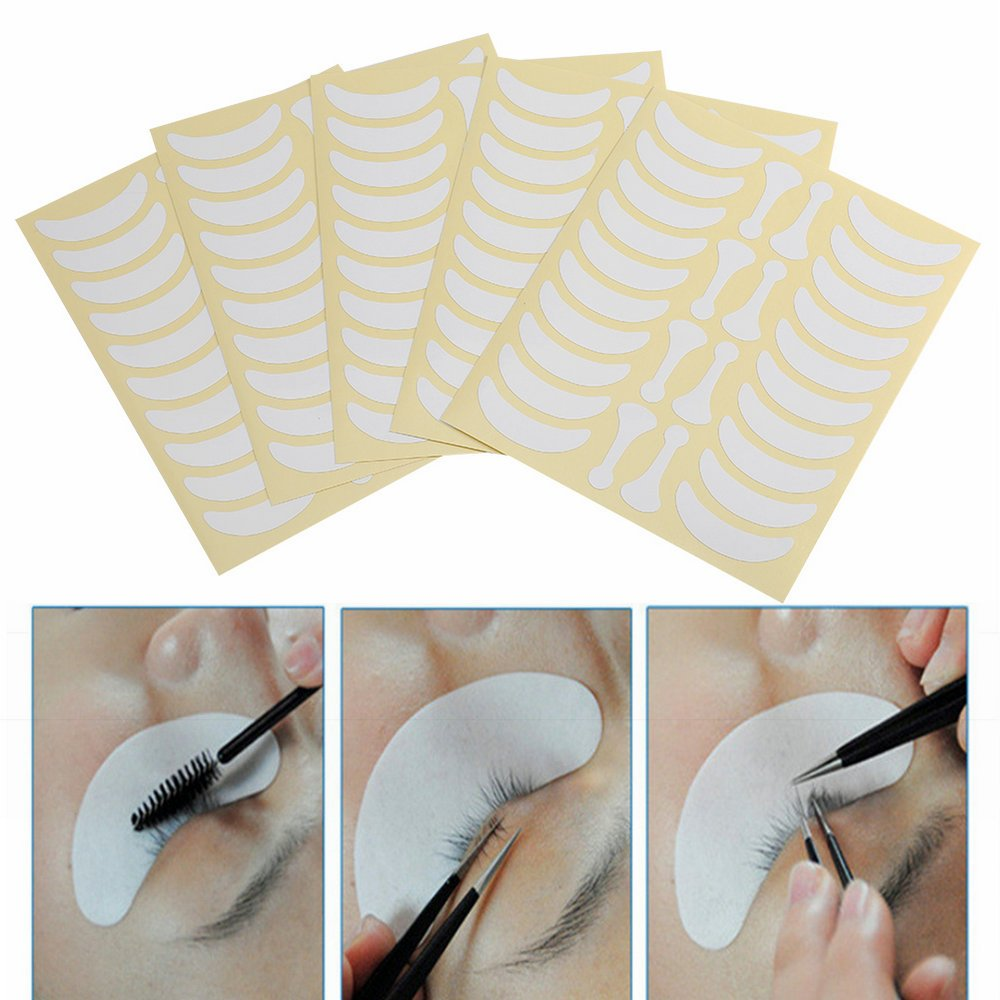 5Pcs Professional Under Eyes Eyelash Extension Paper Grafted Eye Patches Tips Sticker YOSOO