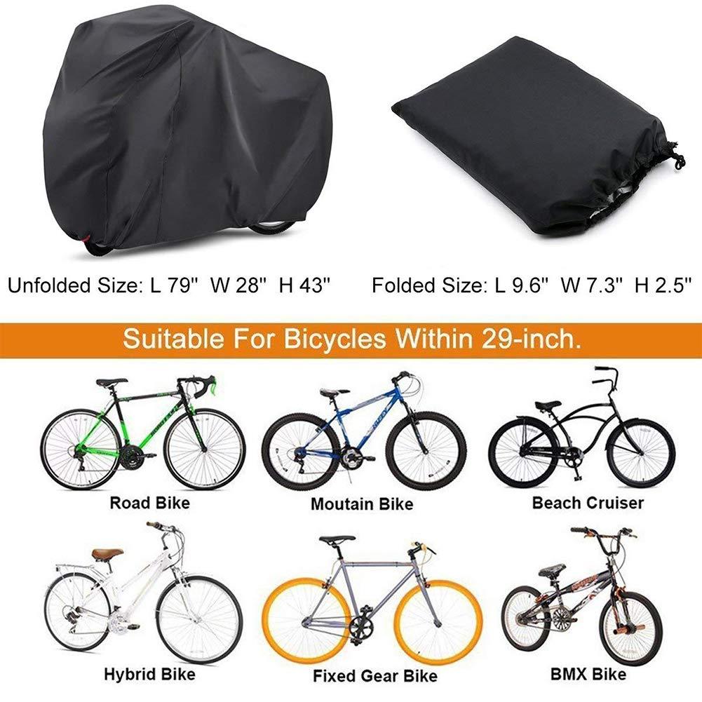 YZCX Housse de Bicyclette Imperm/éable Polyester Oxford Haute Qualit/é Convient Aux V/élos et Aux Scooters Housse de V/élo Peut Couvrir Jusqu/à Deux V/élos