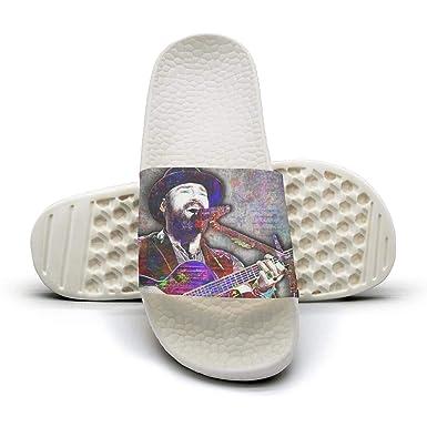 Women Slide Sandal Flip Flops Shower Slippers Rock band Album Cover Poolside Beach Shoes