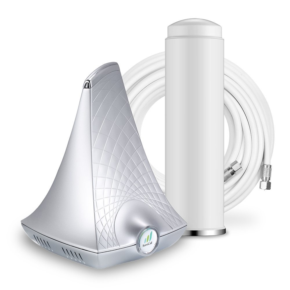 SureCall Flare Cell Phone Signal Booster for Home Omni Antenna Configuration | Integrated indoor antenna for easier install | Covers up to 2500 sq ft | Boosts Voice, data for 4G, LTE, 3G by SureCall