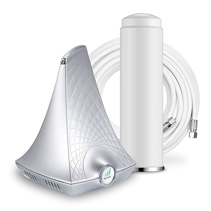 SureCall Flare Cell Phone Signal Booster for Home Omni Antenna  Configuration | Integrated indoor antenna for easier install | Covers up to  2500 sq ft