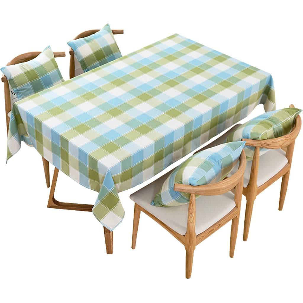 YTJ-JP ヨーロッパの牧歌的なスタイルのテーブルクロス、長方形の格子テーブルカバー、綿と麻の布地、防水のやけど防止オイル、ダイニングテーブルコーヒーテーブルドレッシングテーブル長方形のテーブル (Size : 90 × 135cm) 90 × 135cm  B07SS1G9FH