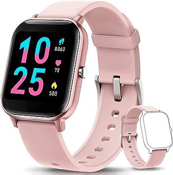AIMIUVEI Smartwatch, Reloj Inteligente IP67 con Pulsómetro, Presión Arterial, 7 Modos de Deportes, Monitor de Sueño Caloría 1.4 Inch Pantalla Táctil Smartwatch para Mujer y Hombre: Amazon.es: Deportes y aire libre