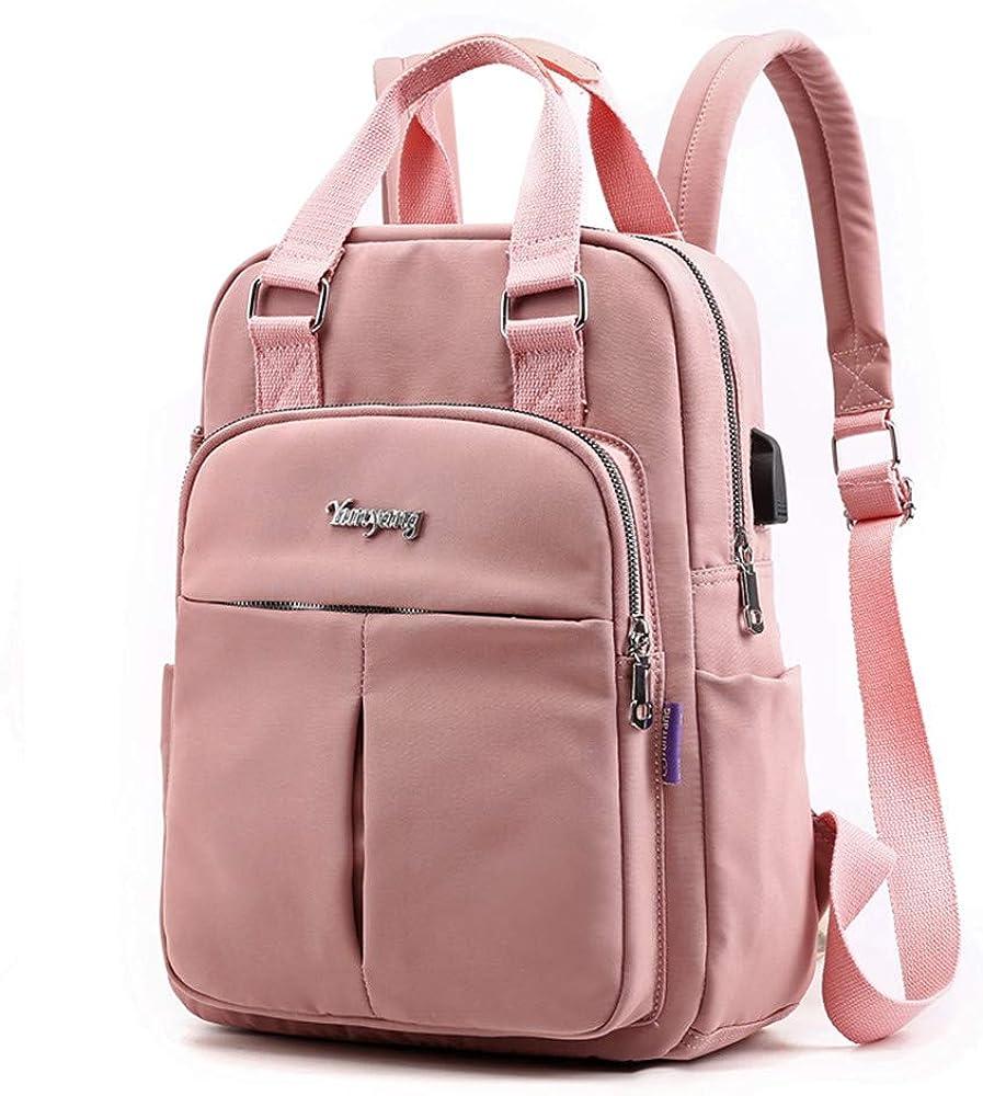 Backpack Purse For Women Men with USB Charging Port Laptop Rucksack Travel Shoulder Bag