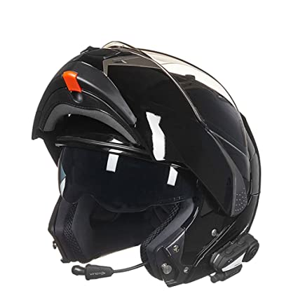GTYW, Casco De Moto, con Auriculares Bluetooth, Casco Facial, Casco De Scooter