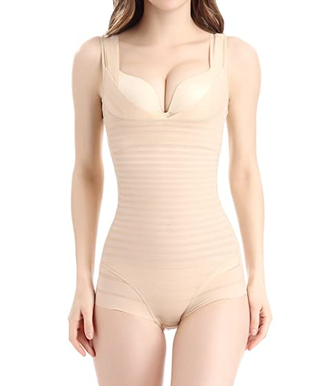 2790921c5c64d Image Unavailable. Image not available for. Color  AIMILIA Women s Shapewear  Firm Tummy Control Bodysuit Slimmer Super Thin Seamless Body Shaper