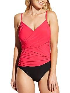 One Piece Swimsuit Coral//black Aqua Green Brand NWT