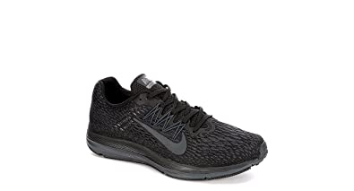 5fe2b7afa74 Nike Mens Zoom Winflo 5 Running Sneakers Black Anthracite AA7406-002 (9 D