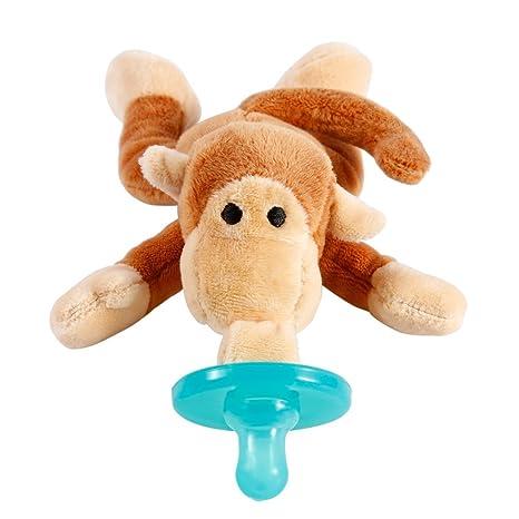 Chupete con La Felpa Suave Mono Regalo para Bebé Regalo Navidad Animal Jugute Chupete para Dar Bienvenida al Bebé