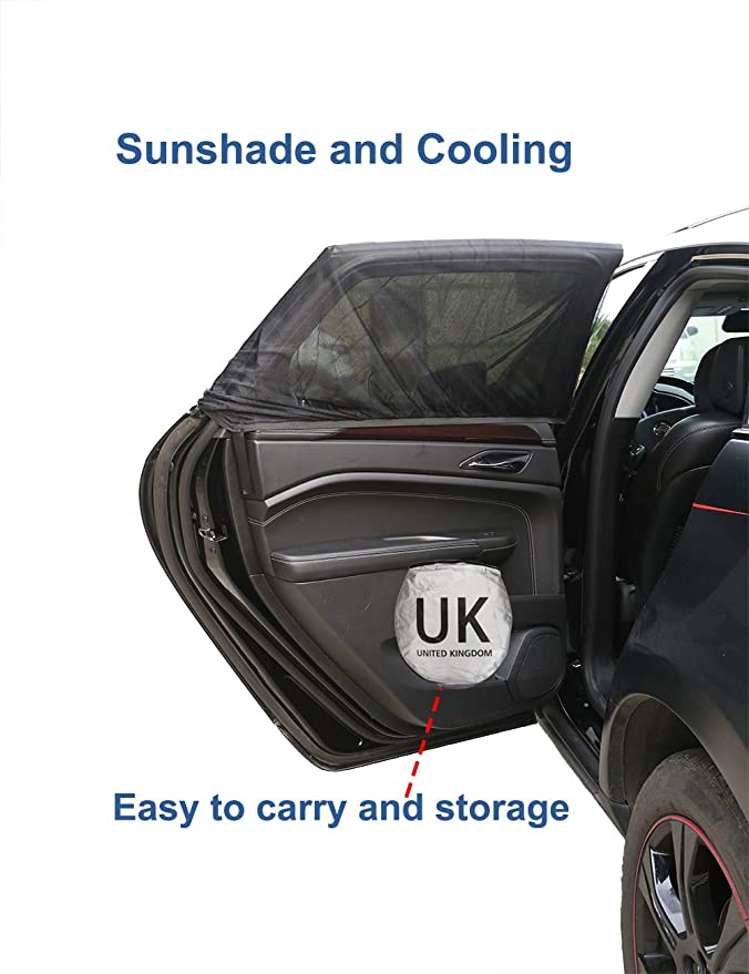 Truck Car Sun Shade Keeping Vehicle Cool UV Ray Protector Sunshade Universal size for SUV 150cm X 70cm Nobranded Front Window Sunshades UK logo Silver