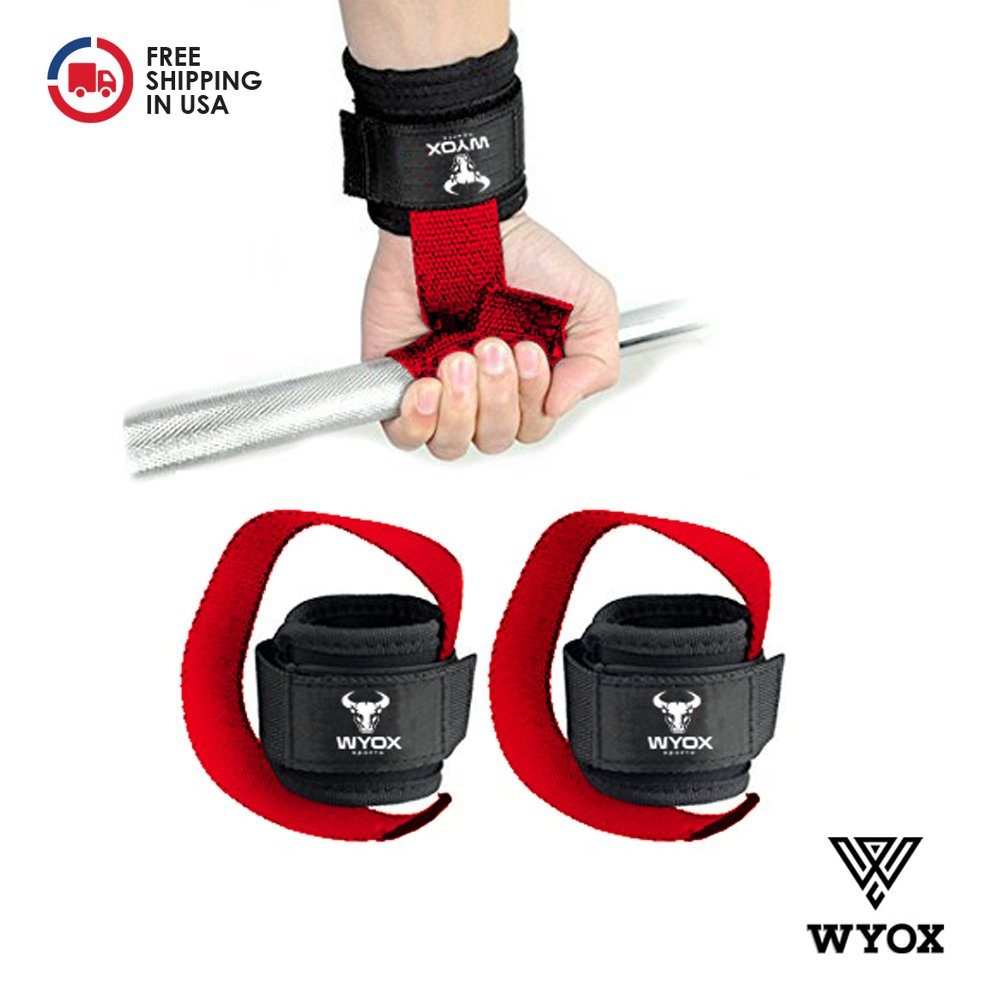 Wyox Weightlifting Bar Straps With Wrist Support Cross fit Gym Power lifting by Wyox Sports (Image #2)