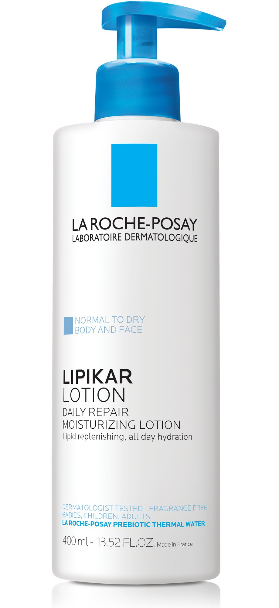 La Roche-Posay Lipikar Body Lotion for Normal to Dry Skin Daily Repair Moisturizing Lotion with Shea Butter and Glycerin, 13.52 Fl. Oz.