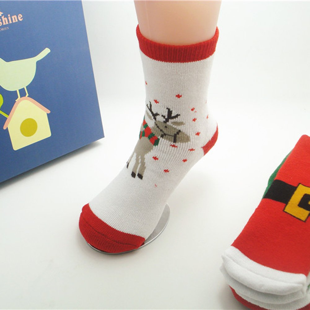 CC Shop Baby Boy Girl Cotton Looped Pile Socks Toddler Cute Christmas Warm Stockings