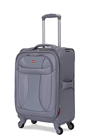 58dc5afc82e3 Wenger SwissGear Neo Lite Expandable 20 quot  Carry-On Spinner Suitcase -  Grey