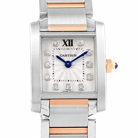 the best attitude 915cd 0fced Cartier Tank Francaise Quartz Womens Watch WE110004 ...