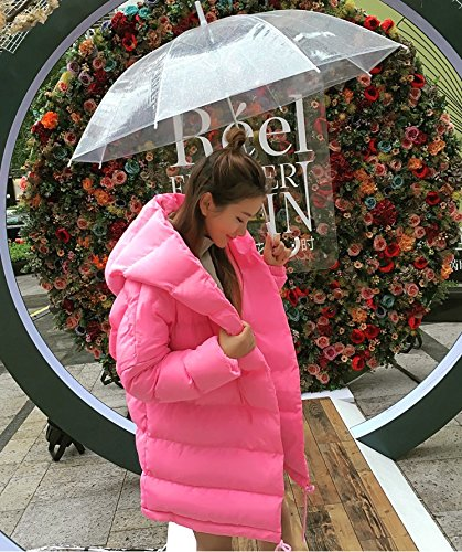 Suit Jacket Thick In Xuanku Women The Paragraph Warm Winter Pink Down Jacket Hooded Long Rqn7nwzpx