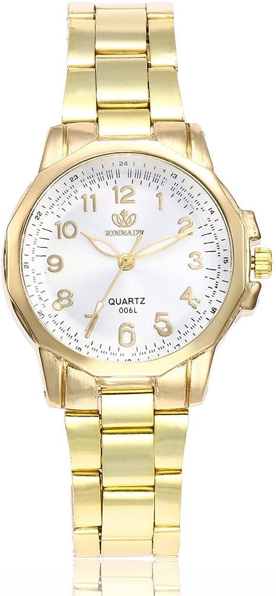 Amazon.com: Relojes de cuarzo para mujer, de acero ...