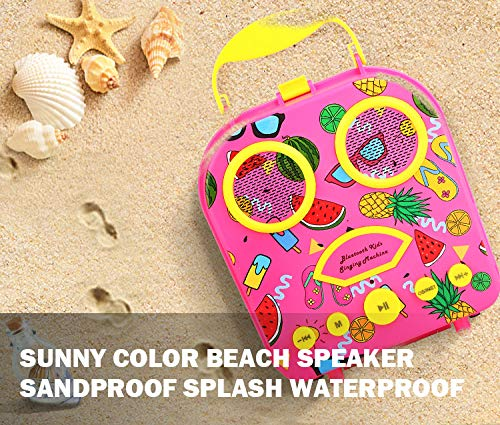 LUCKYBIRD Karaoke Machine for Kids (Hot Pink) by LUCKYBIRD (Image #4)