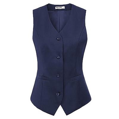 GRACE KARIN Womens Waistcoat Vest Vintage Steampunk Dress Jacquard Jacket at Women's Clothing store