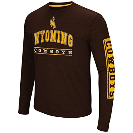 36e4003b279 Amazon.com : Colosseum Wyoming Cowboys Sky Box L/S T-Shirt - Arch ...