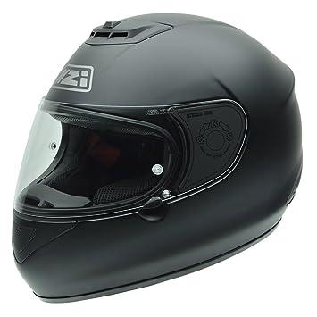 NZI 010265G067 Spyder V Matt Black Casco de Moto, Negro Mate, Talla 57 (