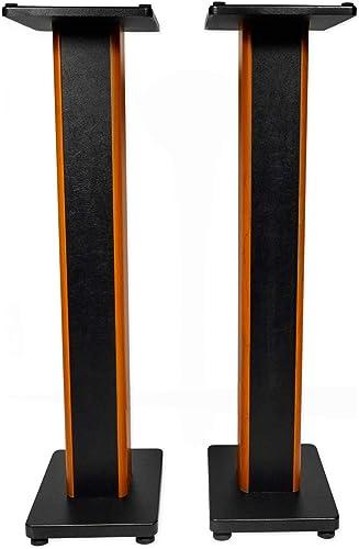 Rockville 2 RHTSC 36 Inch Bookshelf Speaker Stands Surround Sound Home Theater
