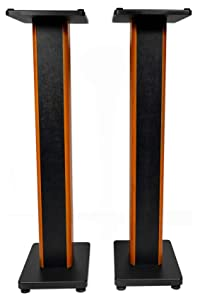 "Rockville 2 RHTSC 36"" Inch Bookshelf Speaker Stands Surround Sound Home Theater"