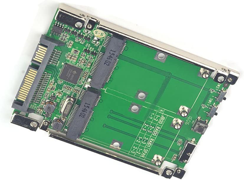 2.5 Dual Mini pcie PCI-E pci Express pci-Express mSATA RAID SSD Adapter to SATA Raid 22pin USB 3.0 Hardware RAID Card