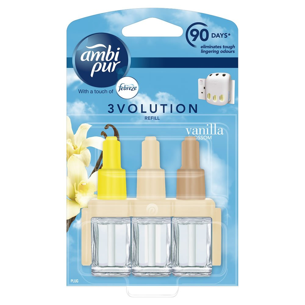6 x Ambi Pur 3Volution Air Freshener Refills 20ml (Pack of 6) - SELECT THE FRAGRANCE (Vanilla (3 x Twinpacks))
