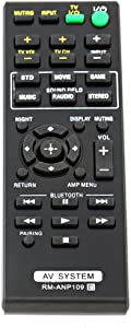 New Remote Control RM-ANP109 for Sony Audio Vidio System Home Theater Sound HT-CT260HP SA-CT260H SA-WCT260H RM-ANP084 HT-CT260 HT-CT260W RM-ANP084 HT-CT260 SA-CT260 HT-CT260C HT-CT260H