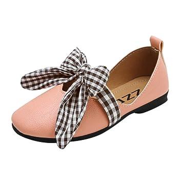 Bébé Ballerines Mocassins Doux Princesse Bowknot Treillis Carré Rétro Chaussures  Bateau, QinMM Soirée Mariage Sneakers 89f0bf38faf8