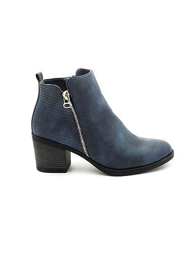 Bleu Bottines 37 Bleu Mare Maria 62329 Chaussures Sacs et a5gwnX