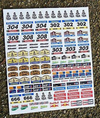 SLOTCAR SCALEXTRIC SCX DAKAR stil RALLYE 1/32nd sponsorenlogo sticker aufkleber